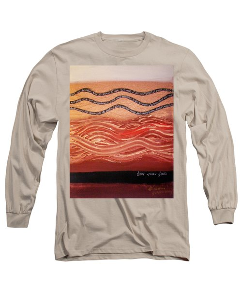Long Sleeve T-Shirt featuring the painting Love Never Fails by Winsome Gunning