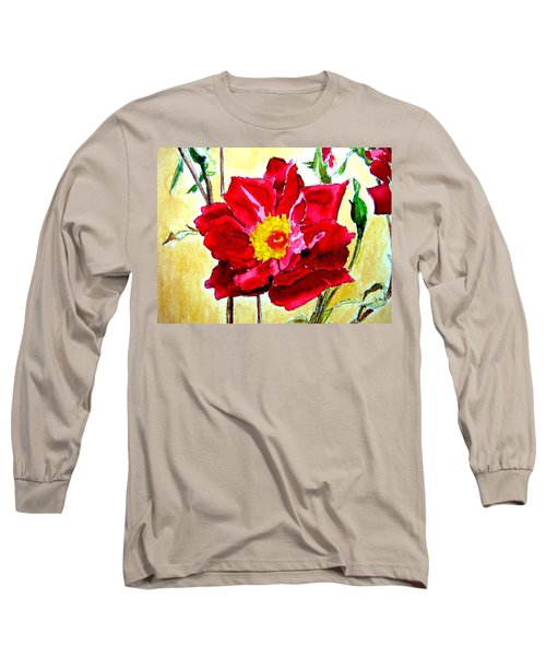 Love Rose Long Sleeve T-Shirt by Ana Maria Edulescu