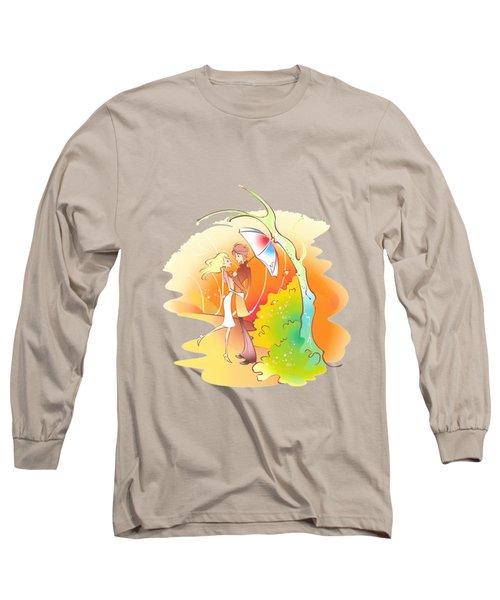 Love Shower T-shirt Long Sleeve T-Shirt by Herb Strobino