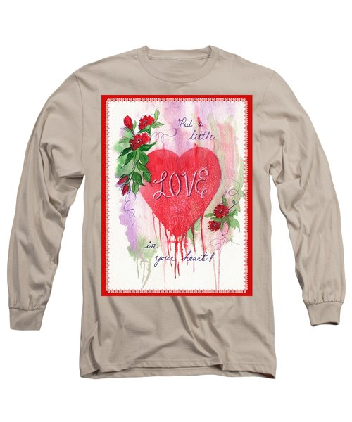 Long Sleeve T-Shirt featuring the painting Love Valentine by Marilyn Smith
