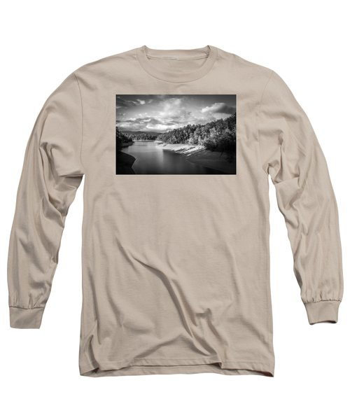 Long Sleeve T-Shirt featuring the photograph Low Sun Across The Nantahala River As The Clouds Clear Away by Kelly Hazel