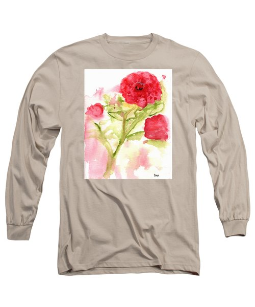 Lucky Rose Long Sleeve T-Shirt by Sandy McIntire