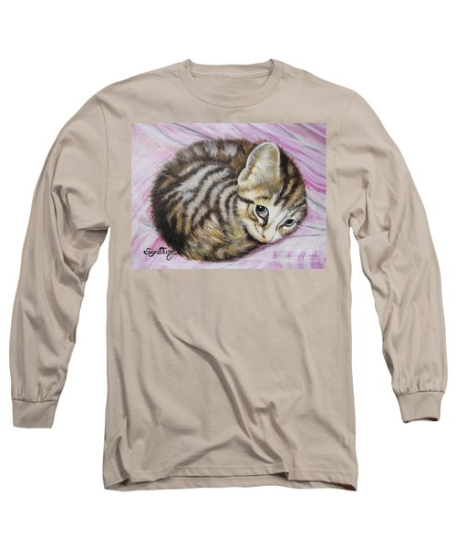 Long Sleeve T-Shirt featuring the painting Lucy Girl by Sigrid Tune