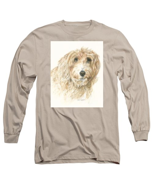 Long Sleeve T-Shirt featuring the drawing Lucy by Meagan  Visser