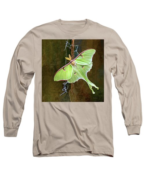 Long Sleeve T-Shirt featuring the digital art Luna Moth by Thanh Thuy Nguyen