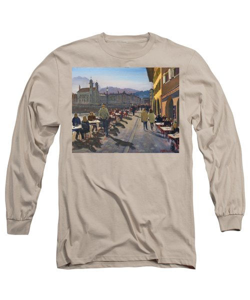 Lunchtime In Luzern Long Sleeve T-Shirt