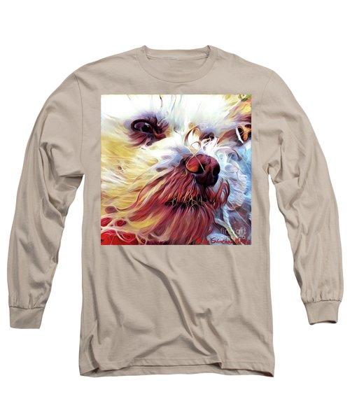 Long Sleeve T-Shirt featuring the digital art Lupi by Judy Morris