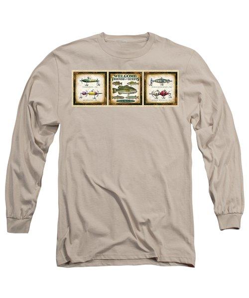 Lure Three Piece Panels Long Sleeve T-Shirt by JQ Licensing Jon Q Wright