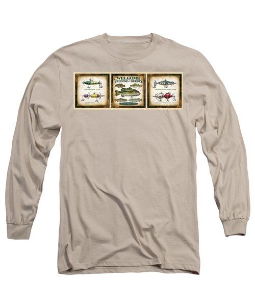 Lure Three Piece Panels Long Sleeve T-Shirt