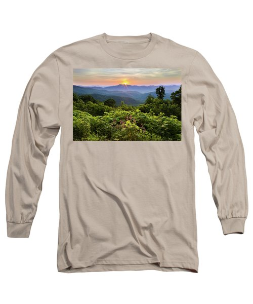 Lush Sunset In June Long Sleeve T-Shirt by Deborah Scannell