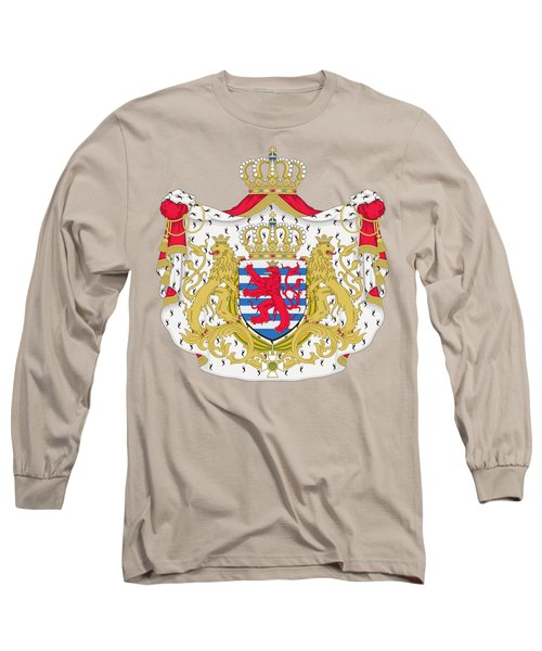 Long Sleeve T-Shirt featuring the drawing Luxembourg Coat Of Arms by Movie Poster Prints