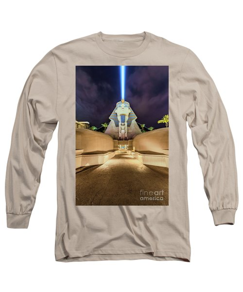 Luxor Casino Egyptian Sphinx Las Vegas Night Long Sleeve T-Shirt