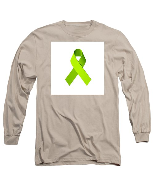Lyme Disease Awareness Ribbon  Long Sleeve T-Shirt