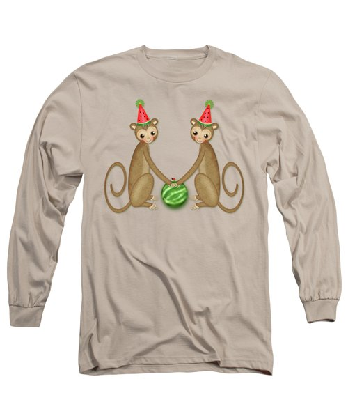 M Is For Monkeys Long Sleeve T-Shirt