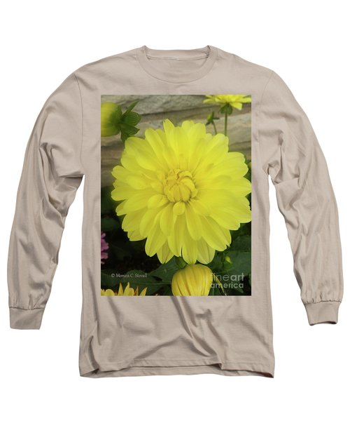M Shades Of Yellow Flowers Collection No. Y90 Long Sleeve T-Shirt