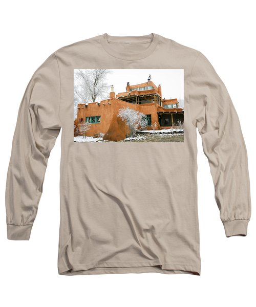 Long Sleeve T-Shirt featuring the photograph Mabel Luhan Dodge House 1 by Marilyn Hunt