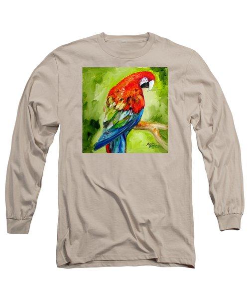 Macaw Tropical Long Sleeve T-Shirt by Marcia Baldwin