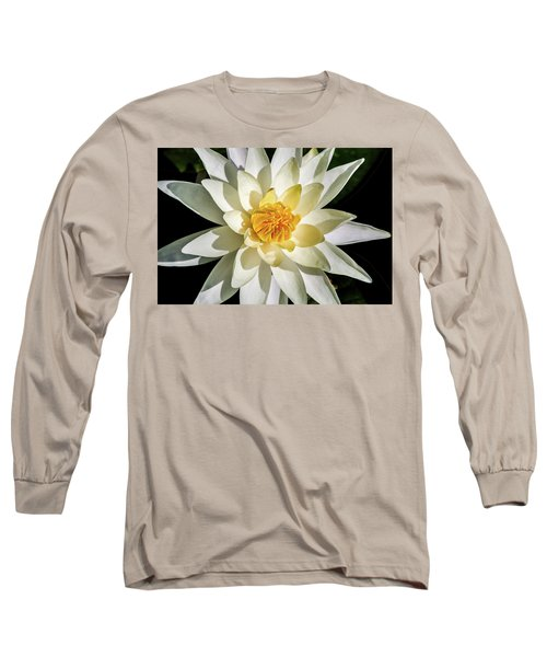 Macro Water Lily Long Sleeve T-Shirt