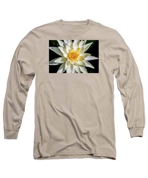 Macro Water Lily Long Sleeve T-Shirt