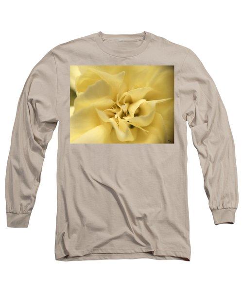Macro Yellow Rose Long Sleeve T-Shirt