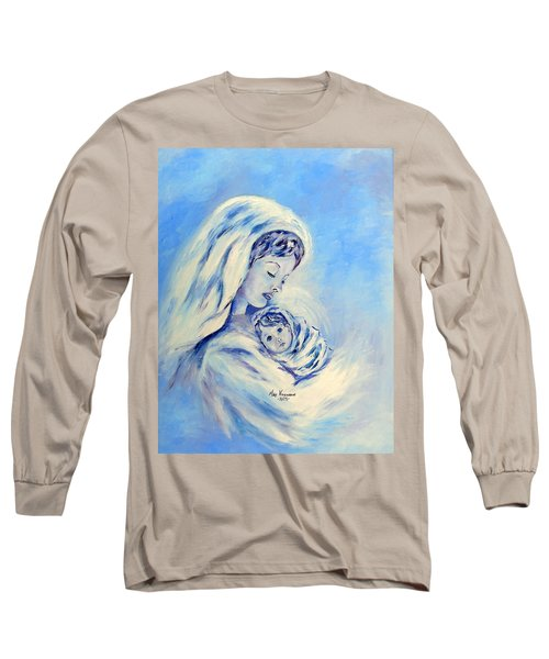 Madonna And Child By May Villeneuve Long Sleeve T-Shirt