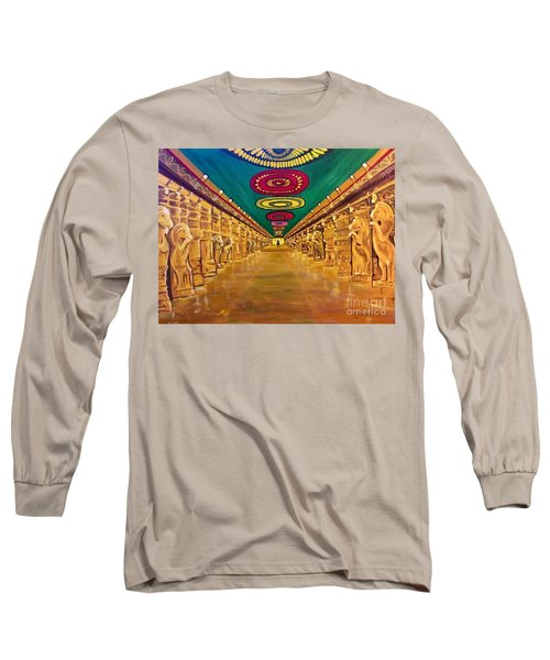 Madurai Meenakshi Temple Mandapam Long Sleeve T-Shirt