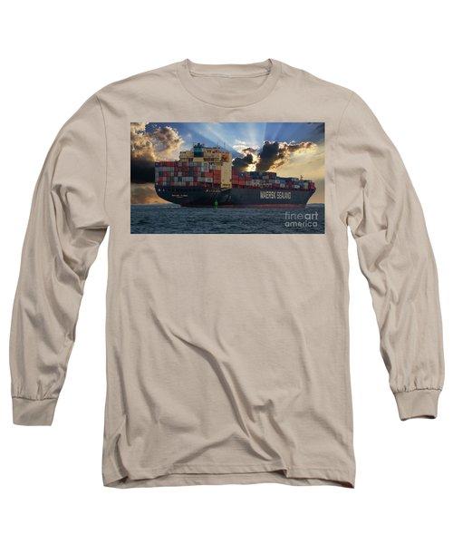 Maersk Sealand Leaving Charleston South Carolina Long Sleeve T-Shirt