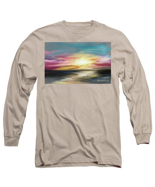 Magenta Sea Long Sleeve T-Shirt
