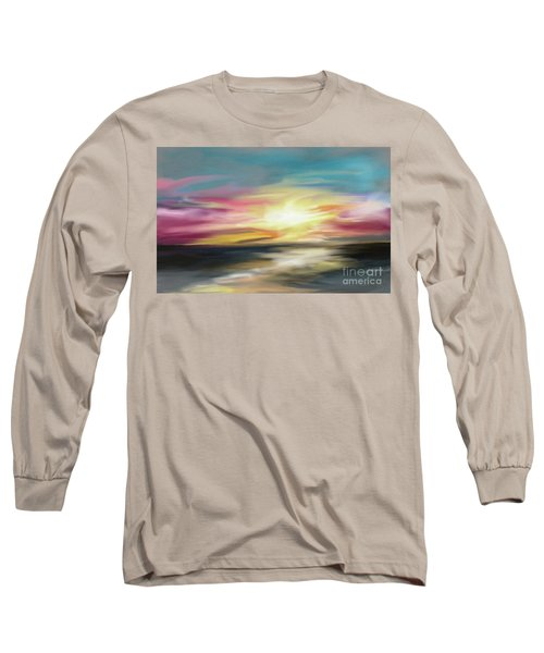 Magenta Sea Long Sleeve T-Shirt