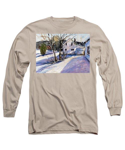 Magenta Shadows Long Sleeve T-Shirt by Judith Levins