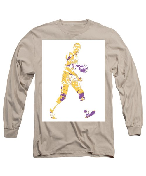 Magic Johnson Los Angeles Lakers Pixel Art 5 Long Sleeve T-Shirt