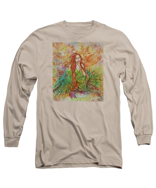 Magical Song Of Autumn Long Sleeve T-Shirt by Rita Fetisov