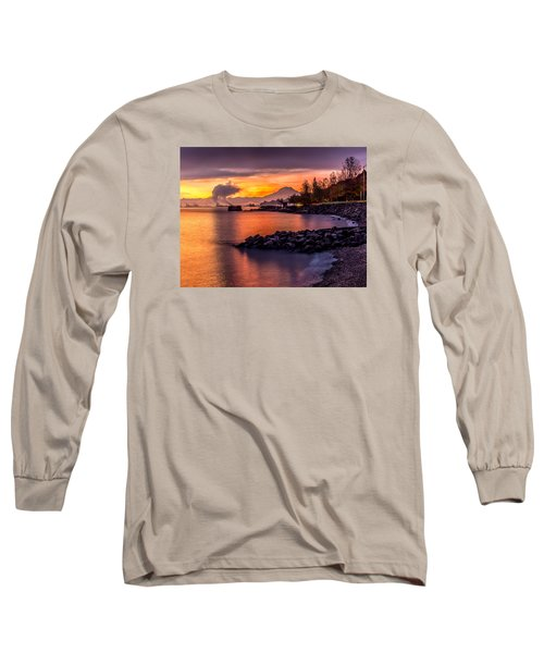 Magical Sunrise On Commencement Bay Long Sleeve T-Shirt by Rob Green