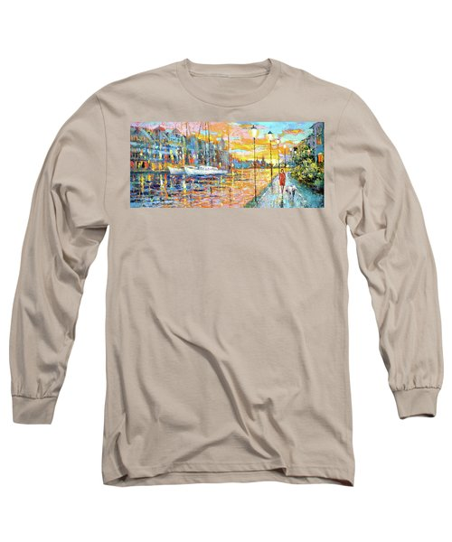 Magical Sunset Long Sleeve T-Shirt by Dmitry Spiros