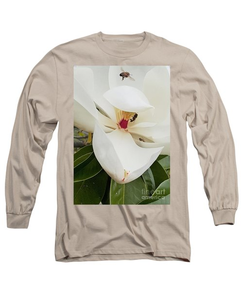 Magnolia Fans Long Sleeve T-Shirt by Jasna Gopic