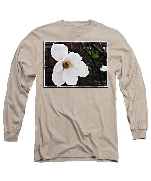 Magnolia Memories 1 Long Sleeve T-Shirt by Sarah Loft