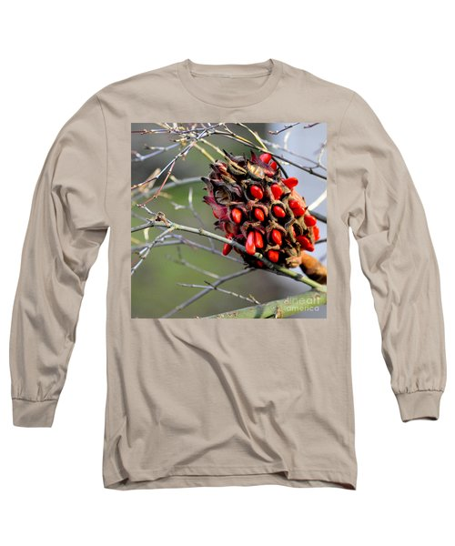 Long Sleeve T-Shirt featuring the photograph Magnolia Seedhead by Tanya Searcy