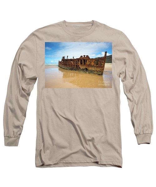 Maheno Shipwreck Long Sleeve T-Shirt