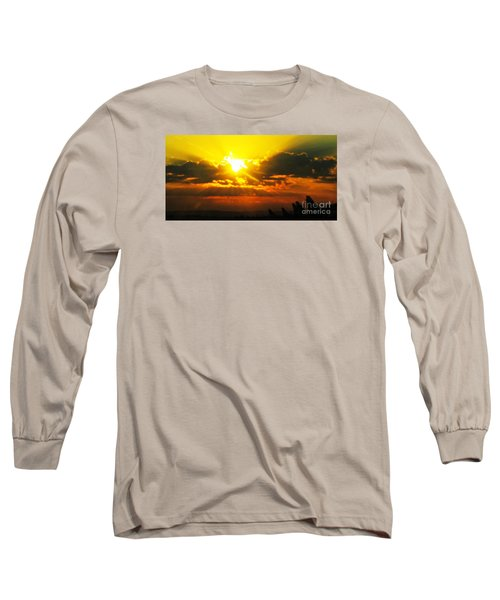 Mahlon Sweet Sunset Long Sleeve T-Shirt by Mindy Bench