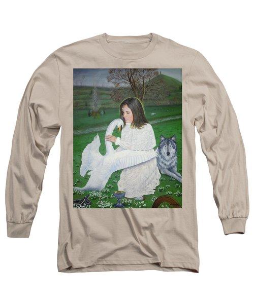 Maiden Goddess Brigit - Imbolc Long Sleeve T-Shirt