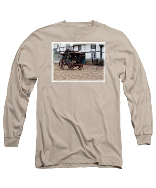Mail Coach At Lacock Long Sleeve T-Shirt by Paul Gulliver