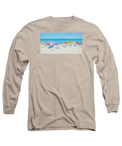 Main Beach East Hampton  Long Sleeve T-Shirt by Jan Matson