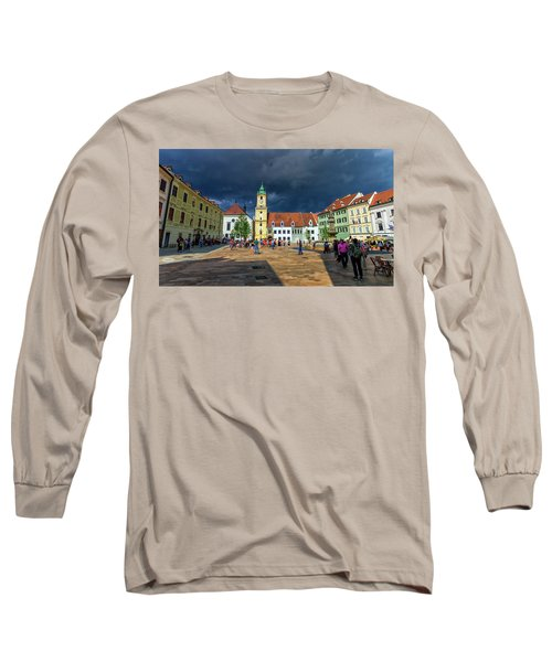 Main Square In The Old Town Of Bratislava, Slovakia Long Sleeve T-Shirt