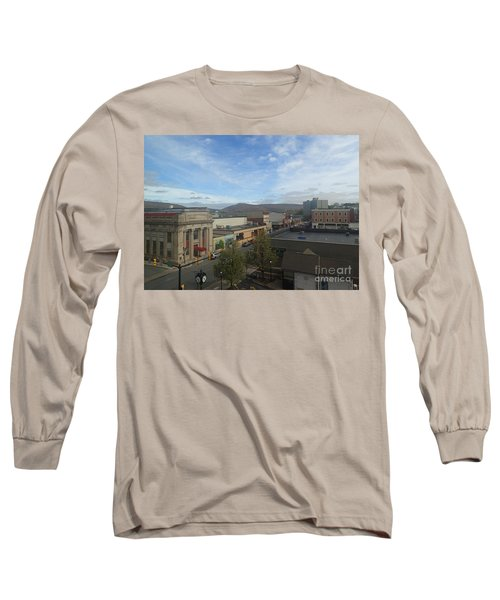 Main St To The Mountains   Long Sleeve T-Shirt by Christina Verdgeline