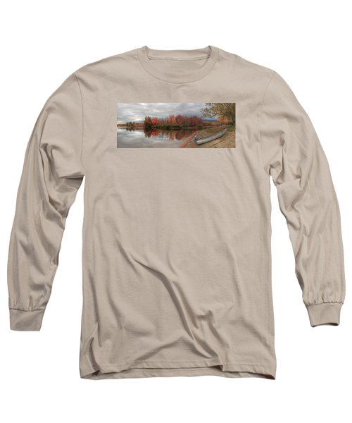 Maine Lake In Autumn Long Sleeve T-Shirt