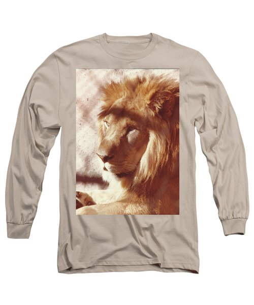 Majestic Lion Long Sleeve T-Shirt by Margaret Harmon