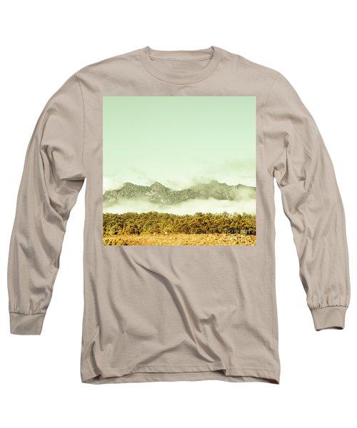 Majestic Misty Mountains Long Sleeve T-Shirt