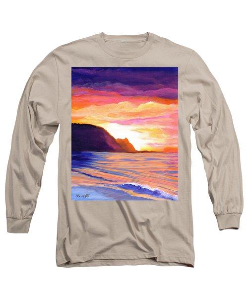 Makana Sunset Long Sleeve T-Shirt by Marionette Taboniar