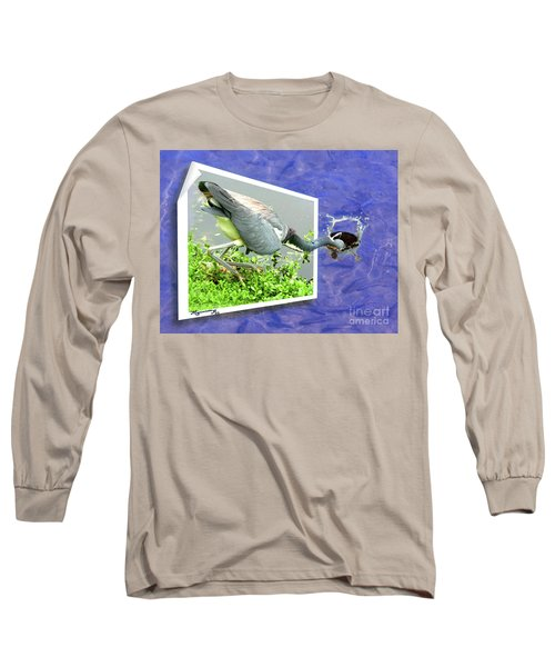 Making A Splash Long Sleeve T-Shirt by Mariarosa Rockefeller