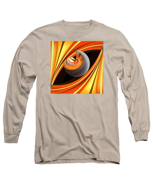 Long Sleeve T-Shirt featuring the digital art Making Orange Planets by Angelina Vick